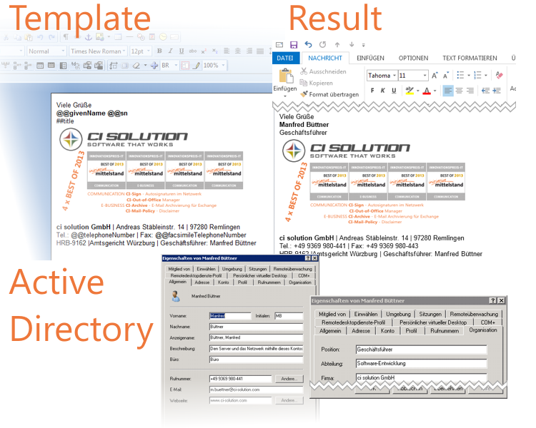 CI-Sign - Email Signature Manager for Outlook, Exchange & Office 365